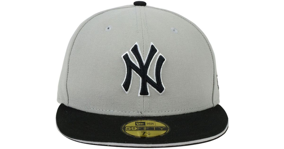 4c29d41cea6 ... hats subway 2000 world series patch gray under 9ede6 73eb7  coupon for  lyst ktz new york yankees 2 tone split 59fifty cap in gray for men