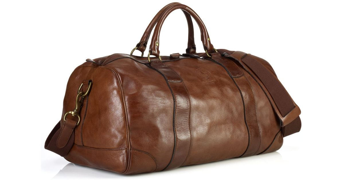 5976f0db01 Lyst - Polo Ralph Lauren Core Leather Gym Bag in Brown for Men