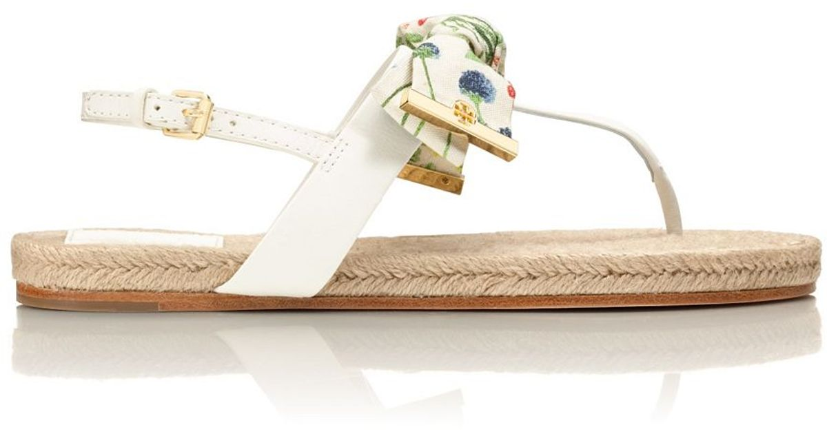 f85889e0366d Lyst - Tory Burch Penny Flat Thong Sandal in Natural