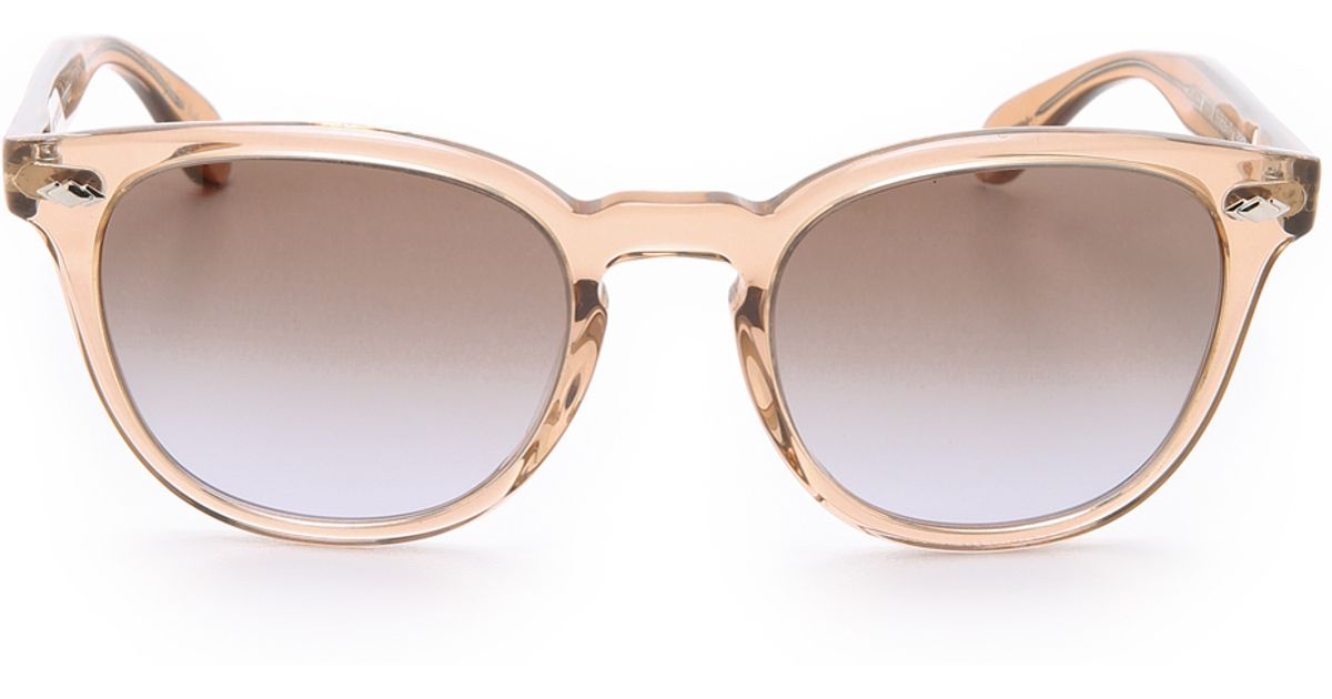 df3e6f6662 Lyst - Oliver Peoples Sheldrake Plus Sunglasses in Pink