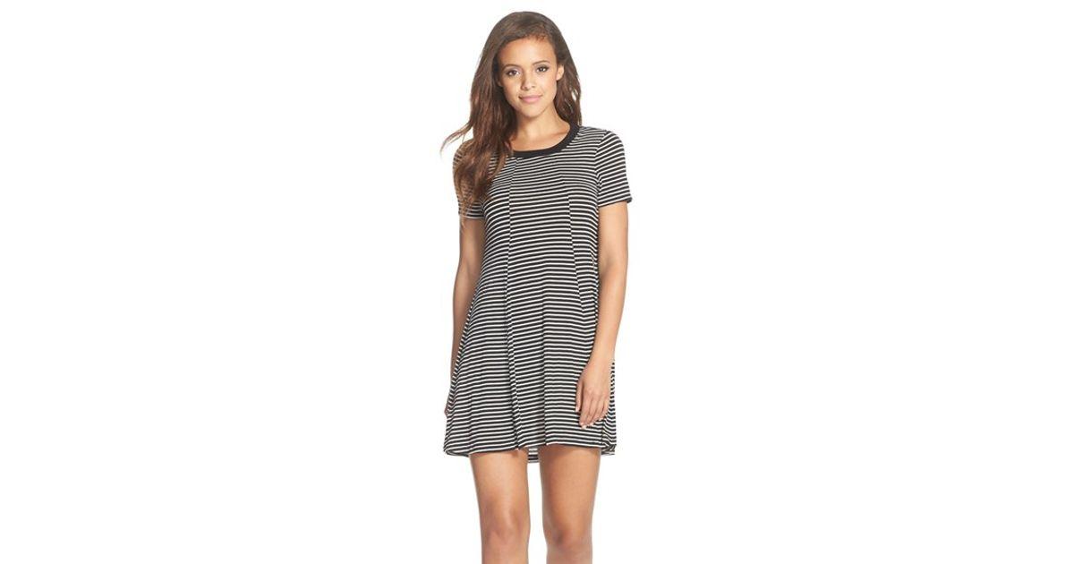 651b6409d1bb Lyst - BCBGeneration Stripe Jersey T-shirt Dress in Gray