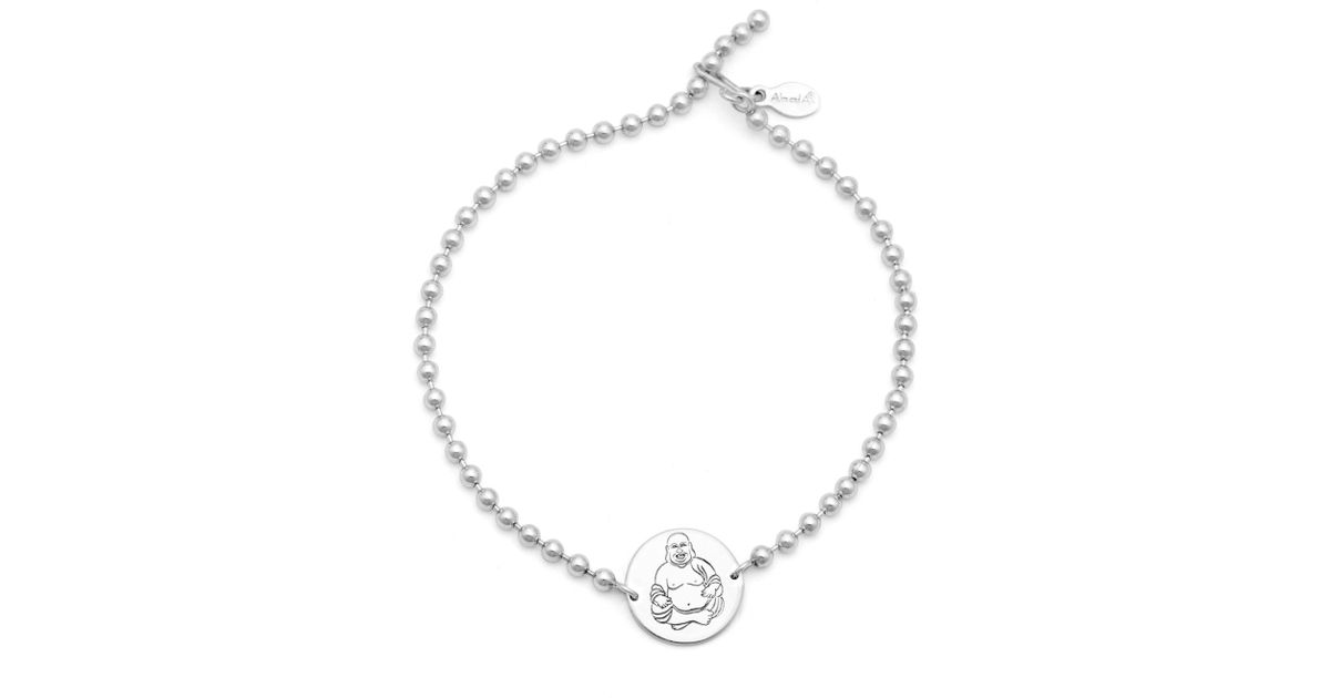 Lyst Alex And Ani Hy Buddha Beaded Bracelet Precious Metal Collection In Metallic