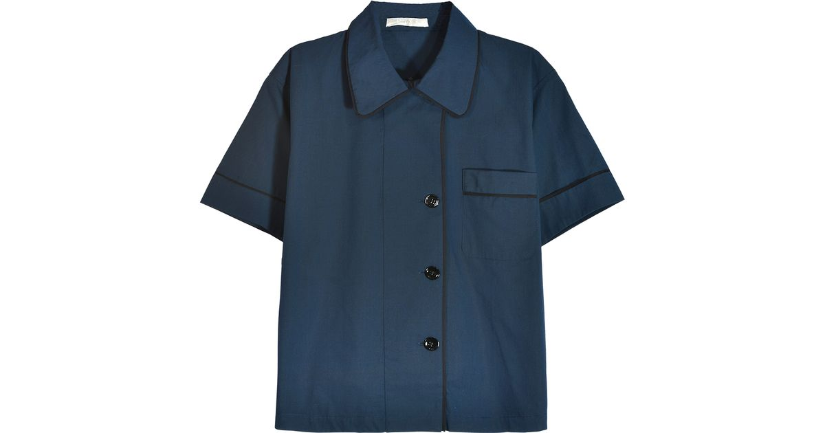 Lyst - Araks Shelby Pajama Top Sea Chambray in Blue 30b44c07c