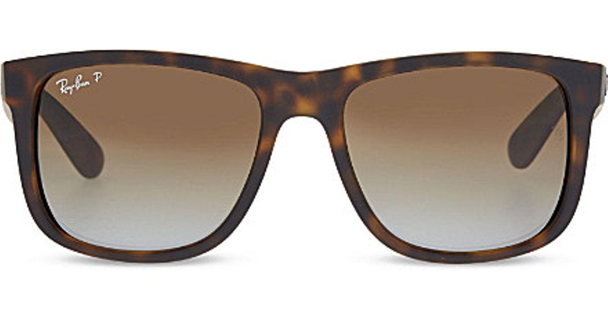 Ray Ban Glasses Frames Tortoise Shell : Ray-ban Rb4165 Tortoise Shell Rectangle Sunglasses in ...
