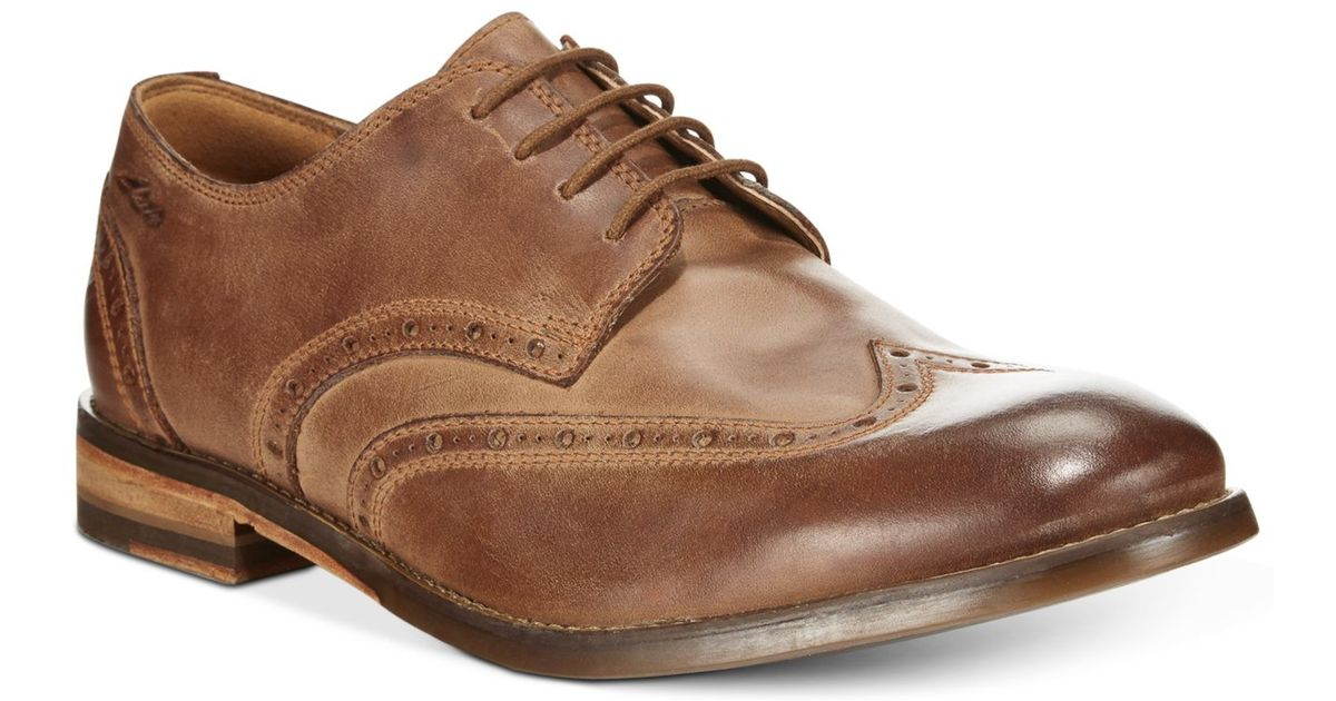 17fc691b7 Lyst - Clarks Men s 1825 Tor Collection Exton Brogue Wing Tip Lace Up Shoes  in Brown for Men