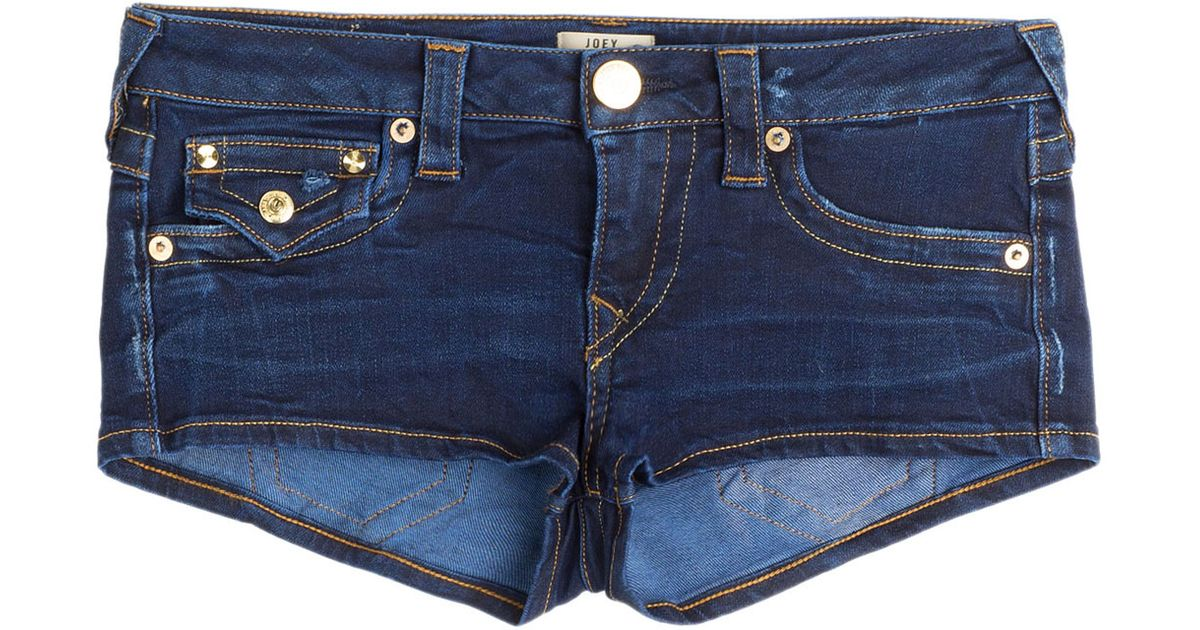 True religion Joey Cut-off Denim Shorts - Blue in Blue | Lyst