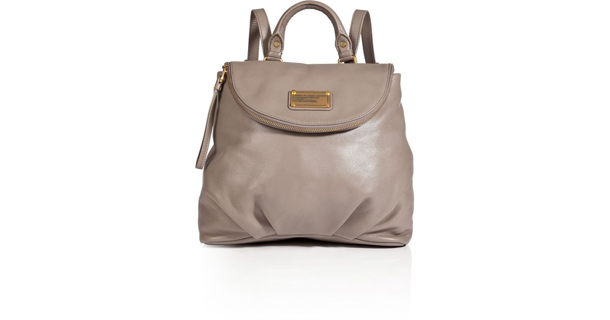 4b79915f127 Marc By Marc Jacobs Classic Q Mariska Leather Backpack in Gray - Lyst