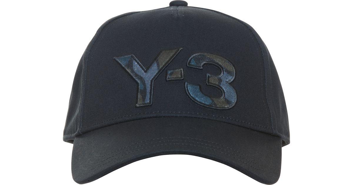 y 3 logo baseball cap in black for lyst