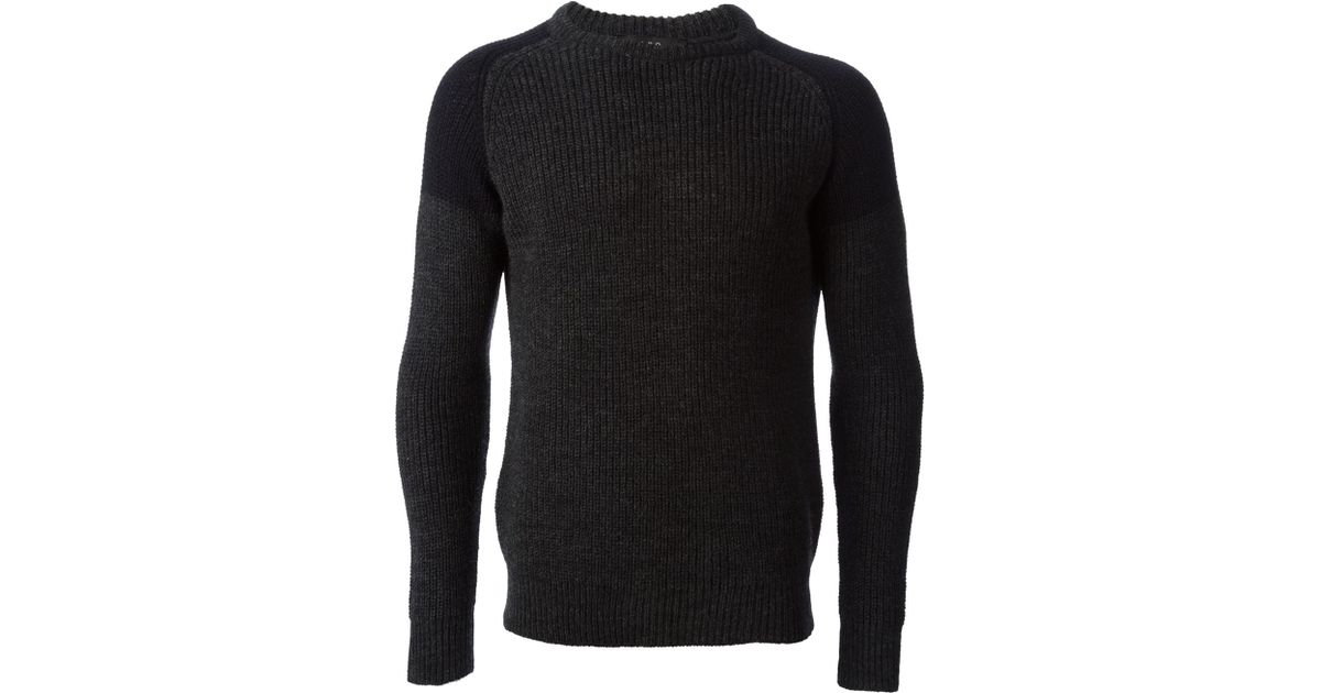 cbc5b67a35 IRO - Gray Panelled Sweater for Men - Lyst