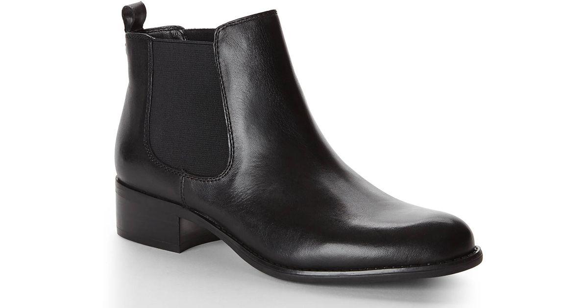 9a0bb79167fc Lyst - Franco Sarto Black Cambridge Chelsea Boots in Black