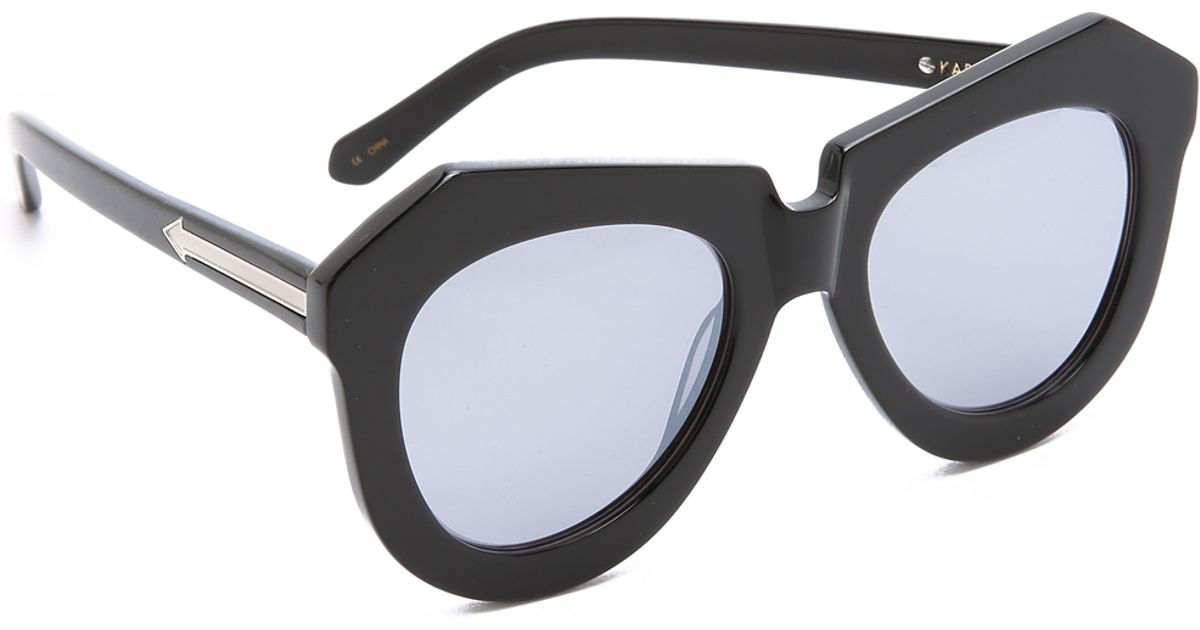 63cbb29ffec Lyst - Karen Walker Superstars One Worship Sunglasses in Black