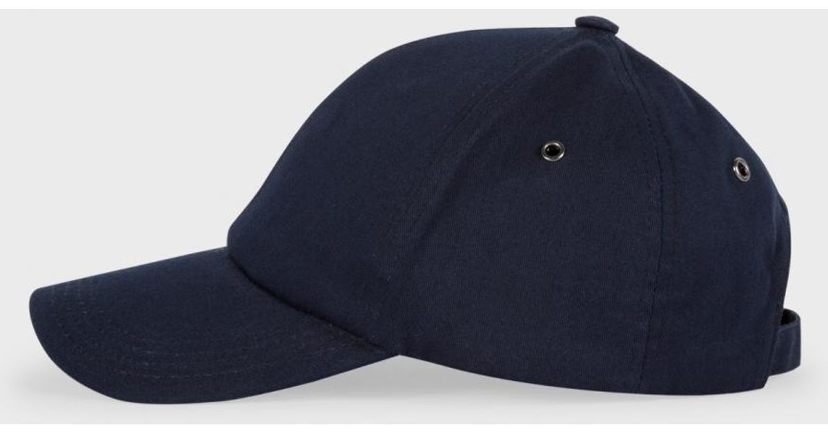 d338e74d170 Paul Smith Men s Navy Baseball Cap in Black for Men - Lyst