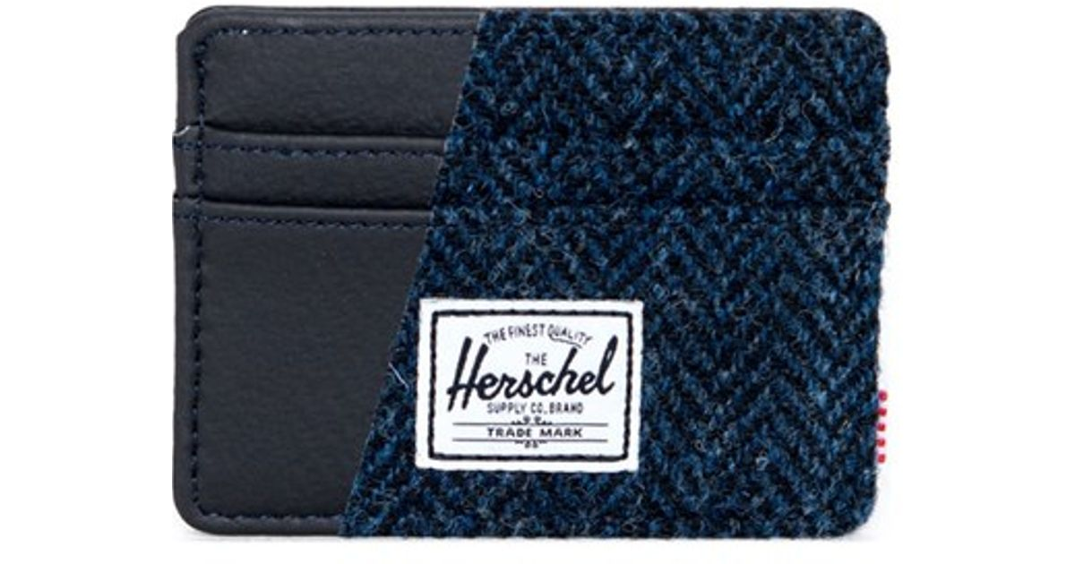 20f775030cdf Lyst - Herschel Supply Co.  charlie - Harris Tweed  Card Holder in ...