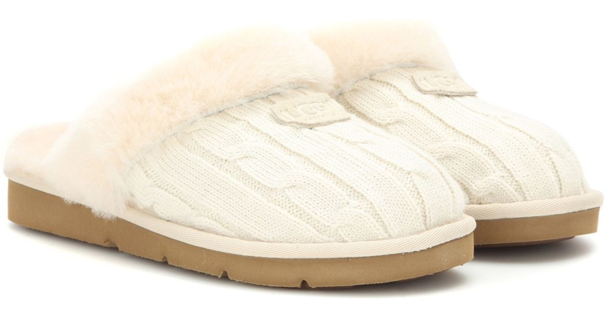Lyst Ugg Cozy Knit Slippers In White