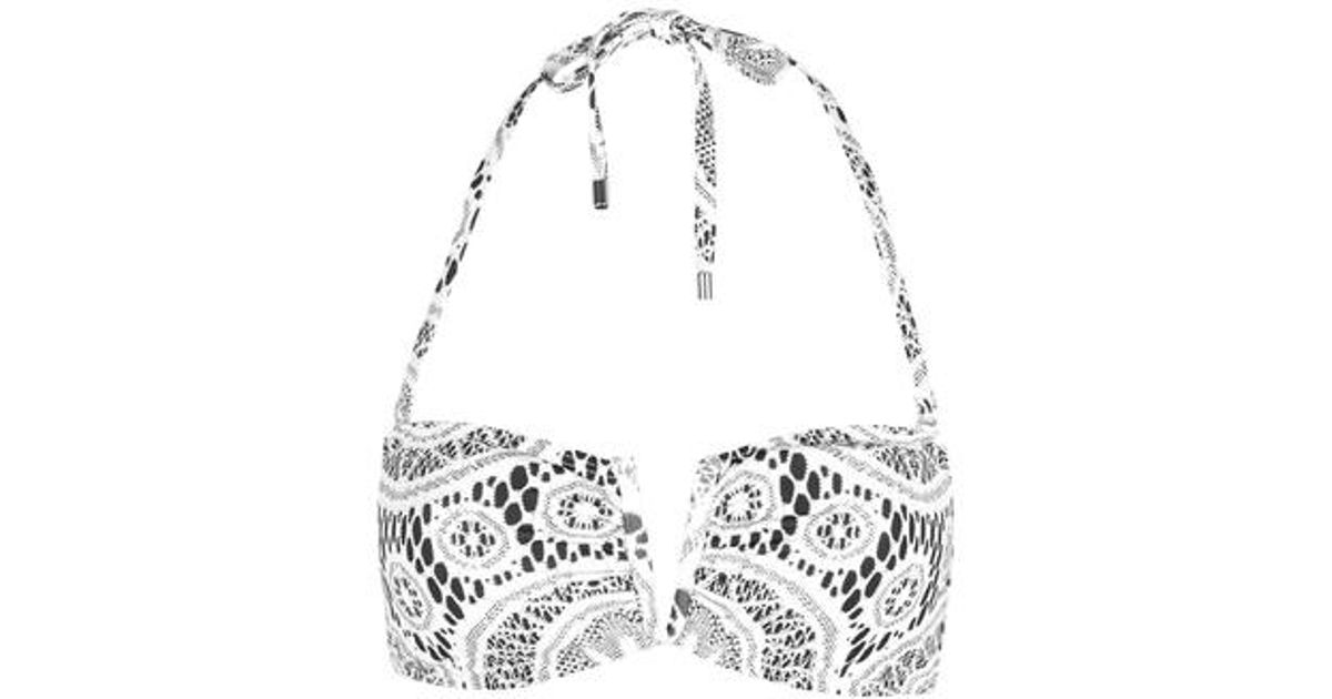 8a1261c045 Topshop Crochet Print Bandeau Bikini Top By Jaded London in White - Lyst