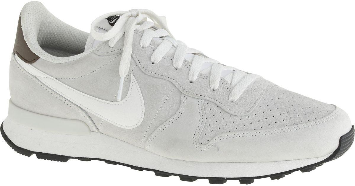 buy popular f660b 52193 ... J.Crew Internationalist Premium Low-Top Sneakers in White for Men - Lyst  Spring Autumn Fashion Nike Internationalist Mid ...