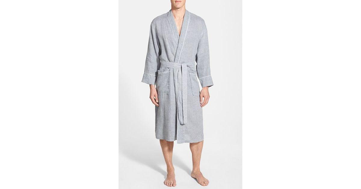 Lyst - Daniel Buchler Woven Linen Robe in Gray for Men 208adc449