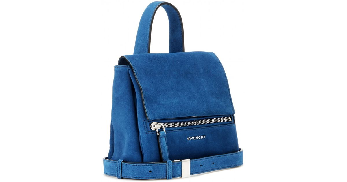200985603f Lyst - Givenchy Pandora Pure Mini Suede Shoulder Bag in Blue