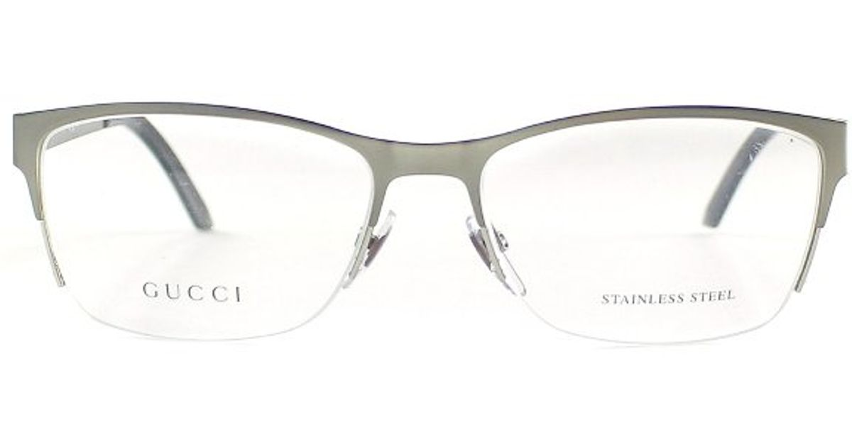 Lyst - Gucci Gg 4236 Cqk Ruthenium Semi Rimless Eyeglasses in ...