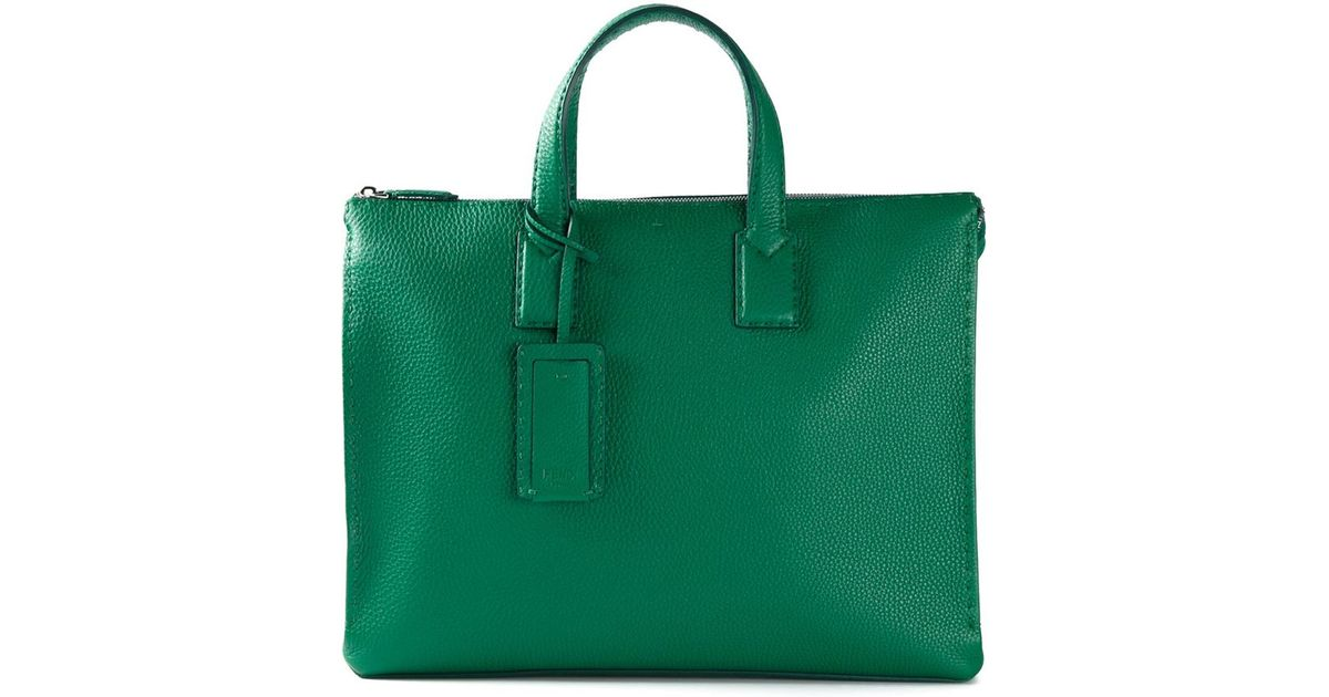 0185f7dc4d ... handbag 1b631 1b501 where can i buy lyst fendi selleria tote in green  for men f1d02 0f62f ...