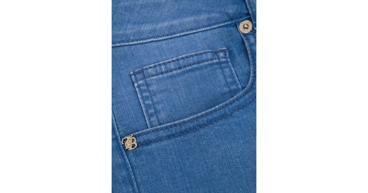 9068d19ac Ted Baker Korall Mid Wash Skinny Jeans in Blue - Lyst