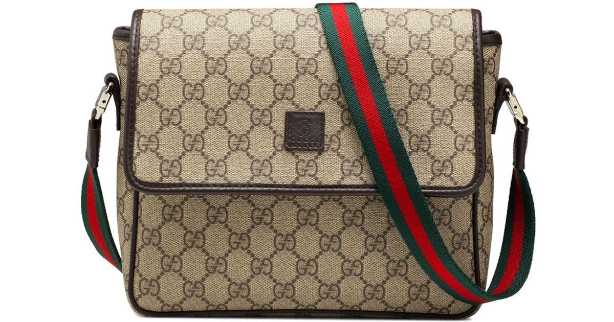 75be17232746 Gucci Girls' Gg Supreme Messenger Bag in Natural for Men - Lyst