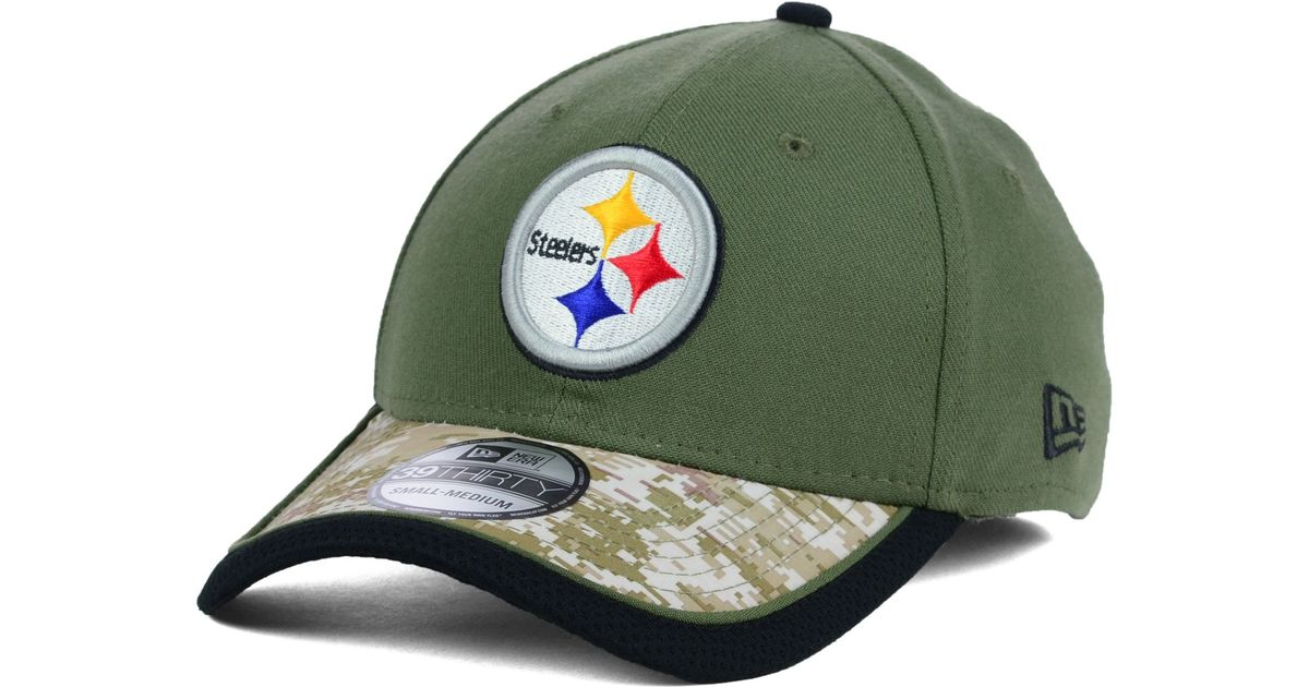 best service 048b0 0b443 KTZ Pittsburgh Steelers Salute To Service 39thirty Cap in Green for Men -  Lyst