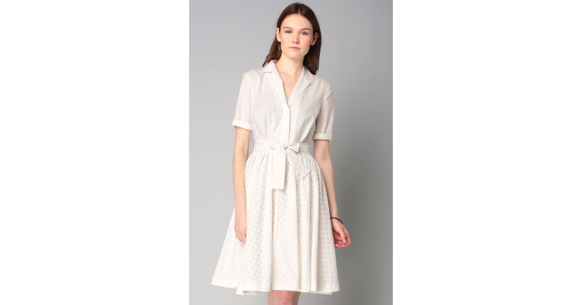 French connection shirt dress in white lyst for French connection shirt dress