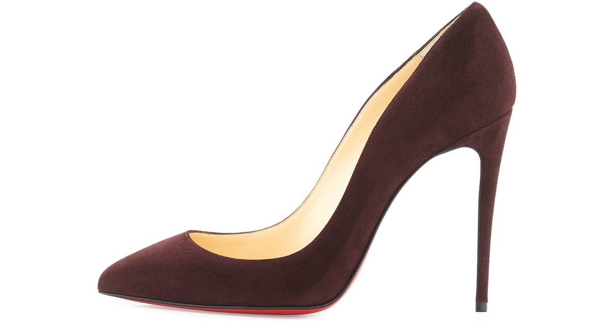 christian louboutin suede point-toe wedge pumps