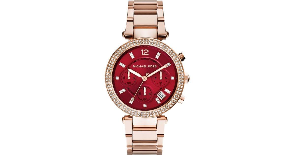 9fcd281f280b Michael Kors Parker Blush Rose Gold Womens Watch 39mm - HD Image ...