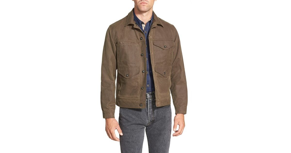 Lined Workwear Wax For Brown Men 'cruiser' In Filson Jacket Lyst Cotton awPOEcaq