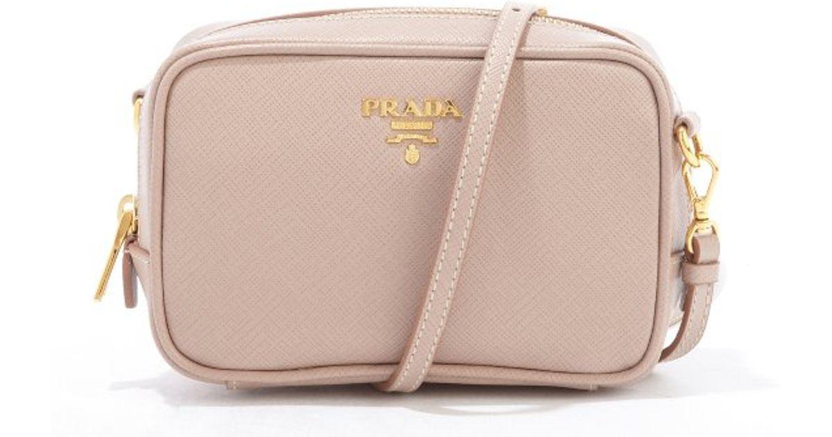... canada prada dusty rose saffiano leather mini crossbody bag in pink lyst  49340 ed5fc 6682688959ad5
