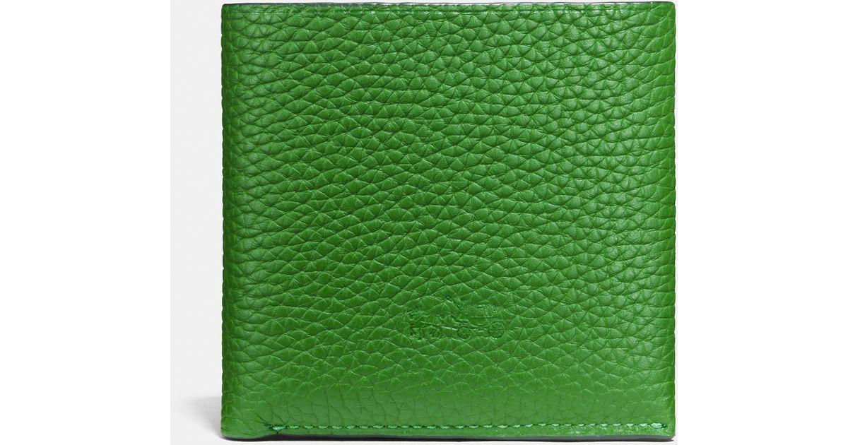 d6a71d8f italy green coach wallet 16620 867ee