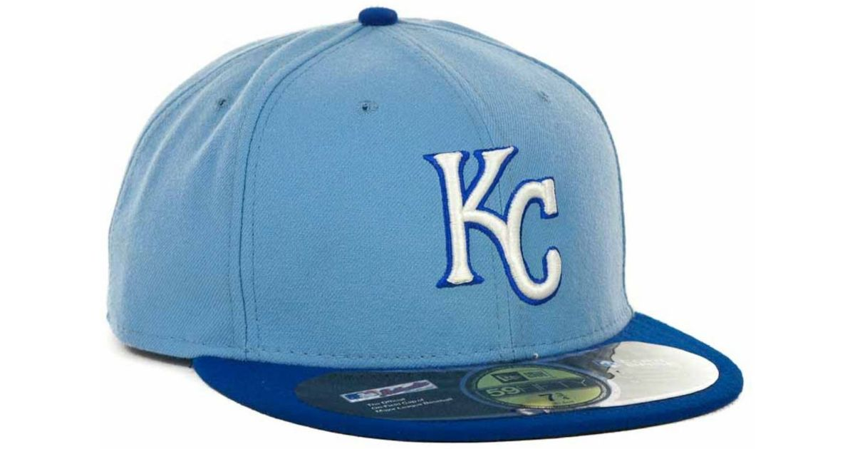 843ae8bb96a Lyst - KTZ Kansas City Royals Mlb Authentic Collection 59fifty Cap in Blue  for Men