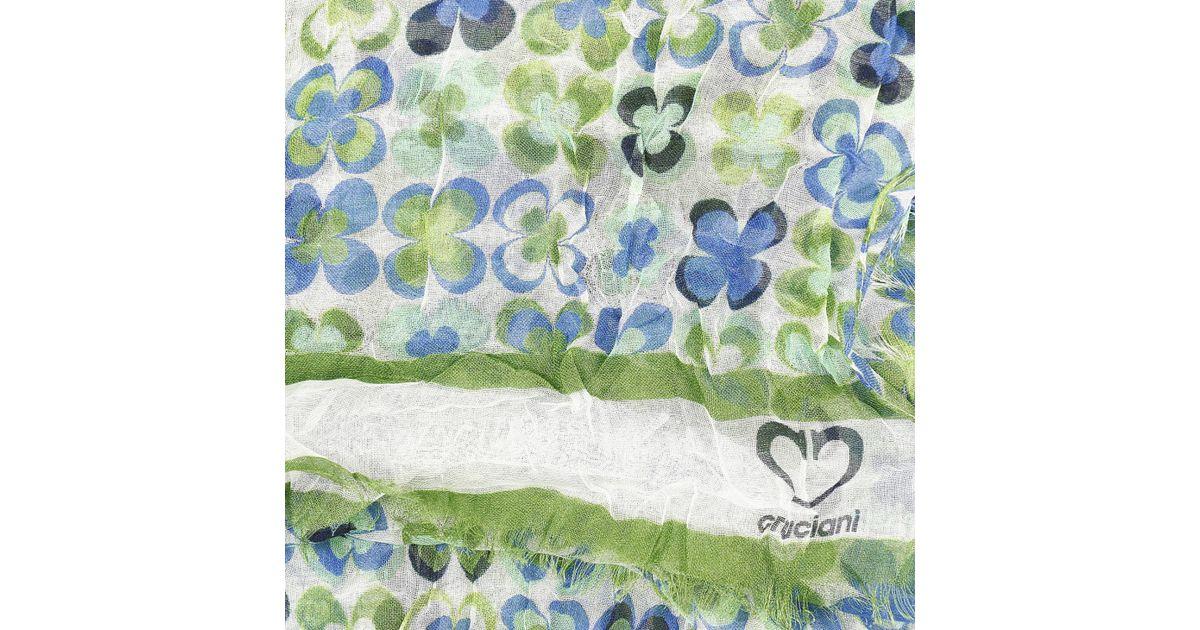 new styles 20392 4e627 Cruciani - Green Foulard Woman - Lyst