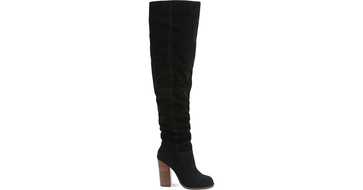 9beb400ffe2 Miss Kg Venice Suede Over-the-knee Heeled Boots in Black - Lyst