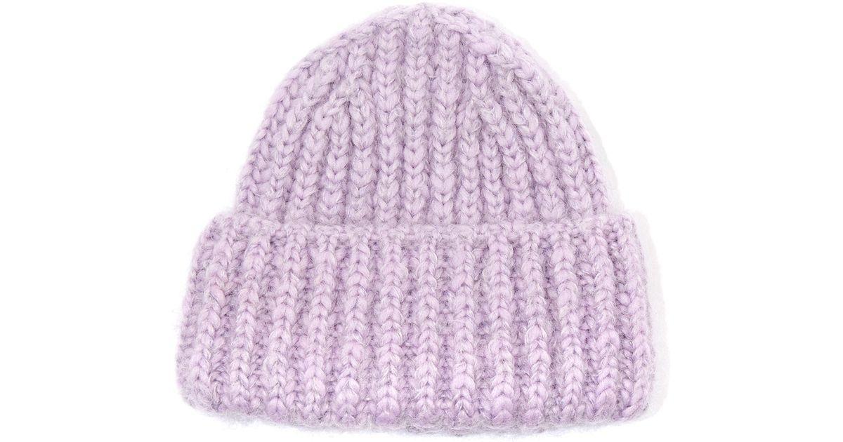 Lyst - Acne Studios Lilac Bay Chunky Wool-blend Knit Hat in Purple d38b22e66b2