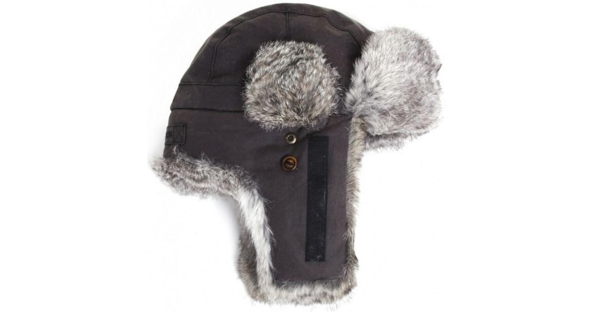 Stetson Boulder Fur Trapper Hat In Black For Men Lyst