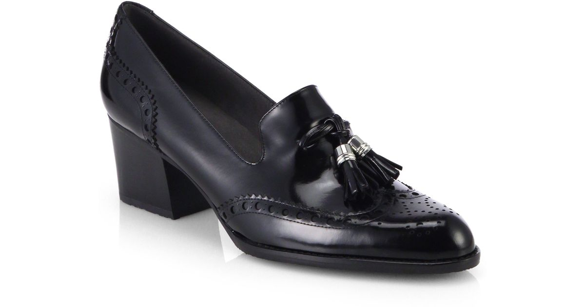 Stuart Weitzman Patent Leather Tassel Loafers 100% guaranteed cheap price TACNdNX19T