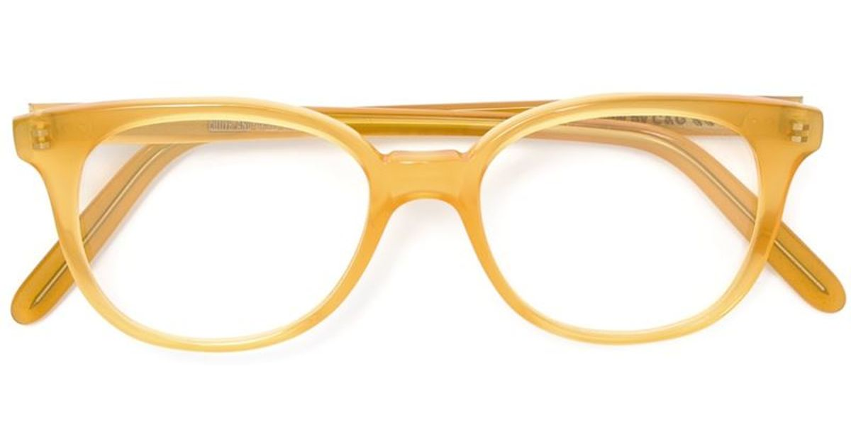 Glasses With Yellow Frame : Cutler & gross Round Frame Glasses in Yellow Lyst