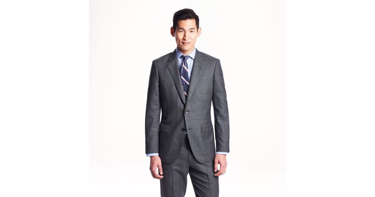 J.Crew Ludlow Fielding Suit Jacket In Windowpane English Spring Wool in  Gray for Men - Lyst ae2a4ba7b