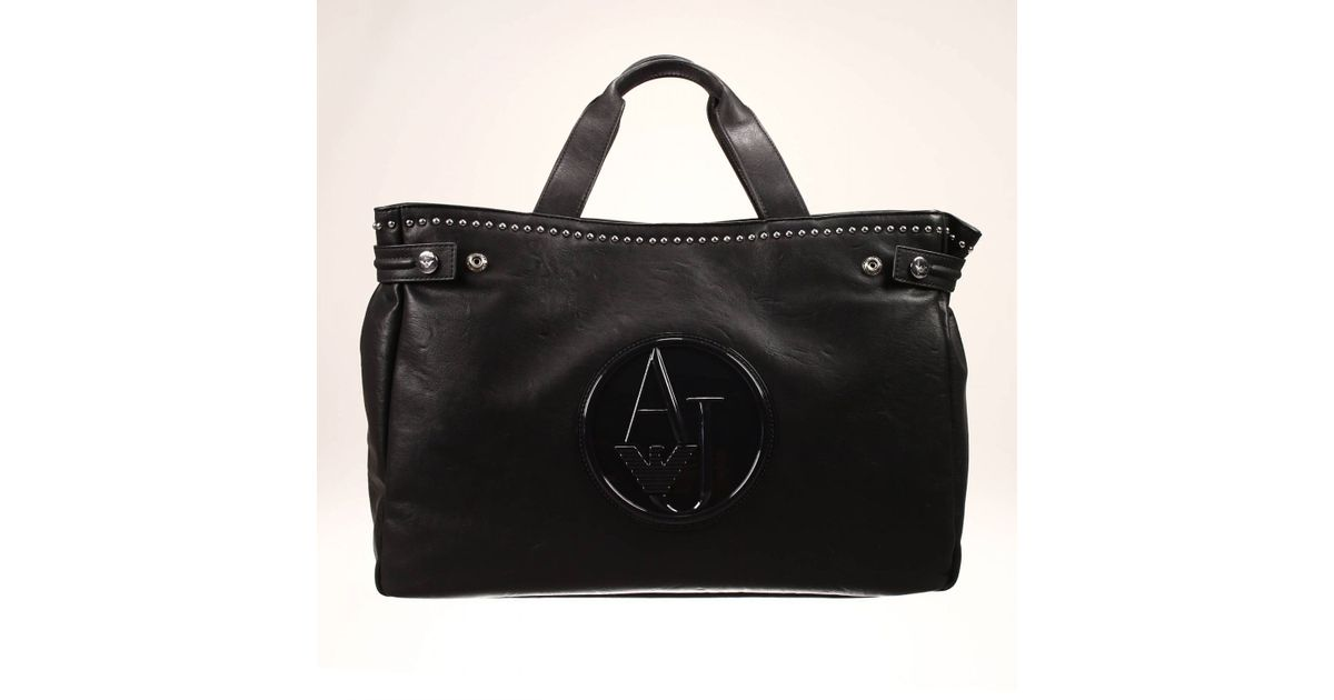 0350c2c58f5 Lyst - Giorgio Armani Handbag Bag Ecoleather Soft With Studds Shopping Big  in Black