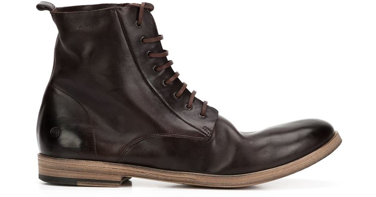mars 232 ll mars 232 ll lista lace up ankle boots in brown for