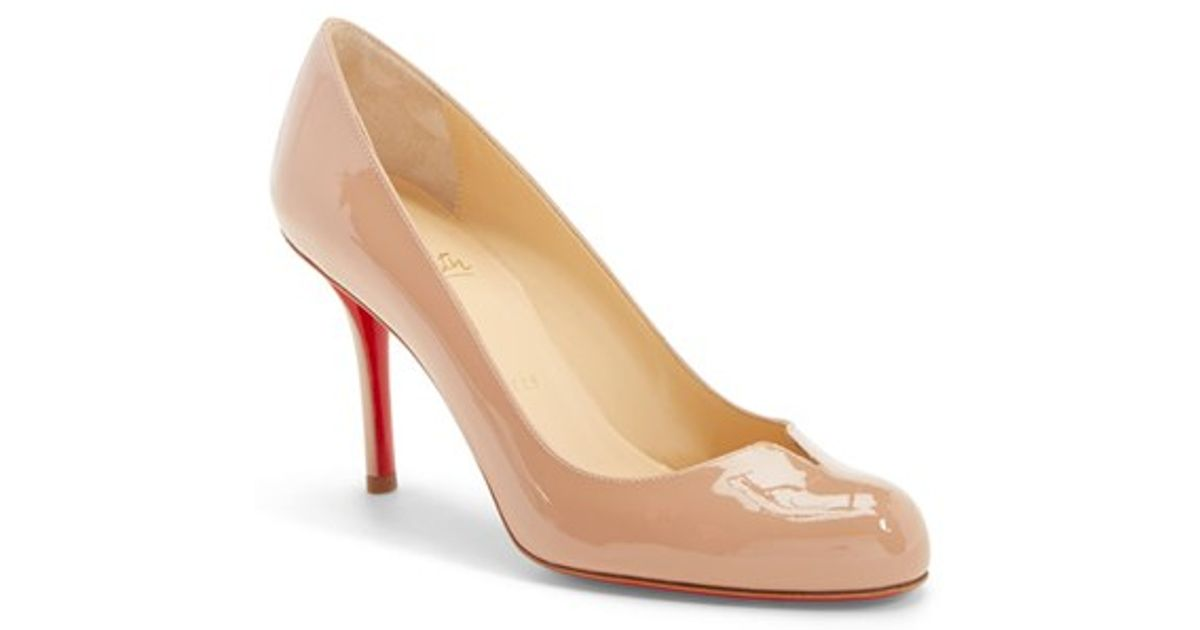 where can i buy louboutin replicas - Christian louboutin Sophia Regina Notched Patent Leather Pumps in ...