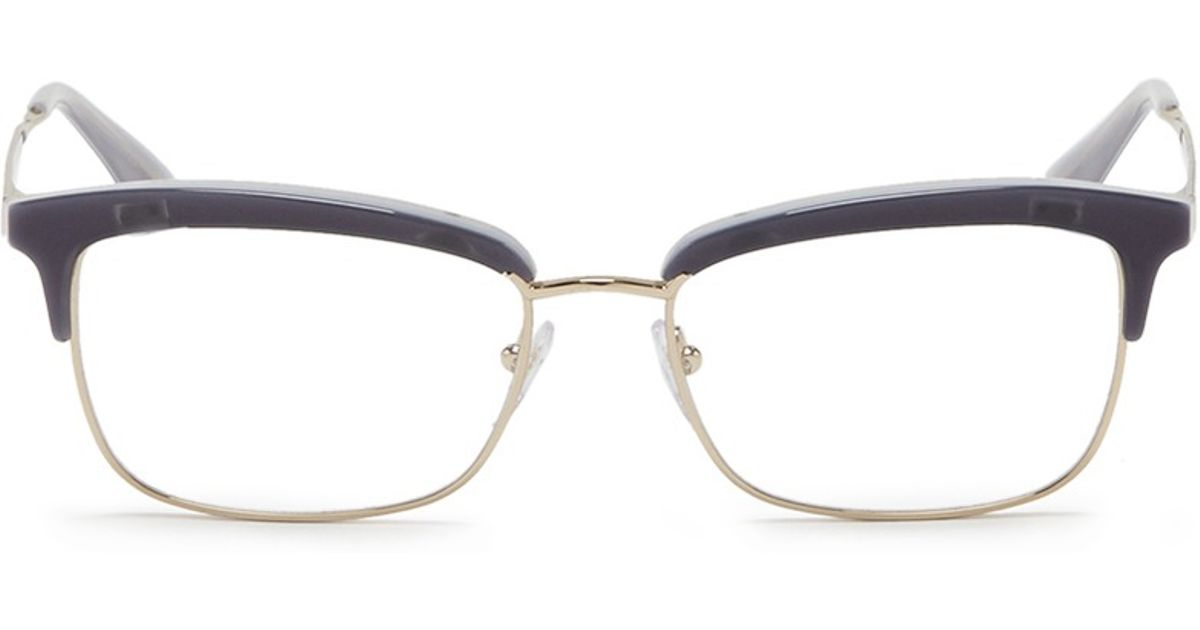 933d6ead1be Lyst - Prada Acetate Rim Metal Optical Glasses in Blue