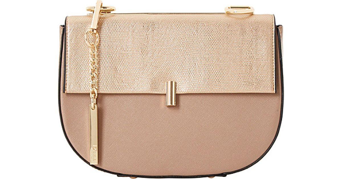 Dune Evita Mini Saddle Bag in Natural - Lyst 6dfd28d1b02da