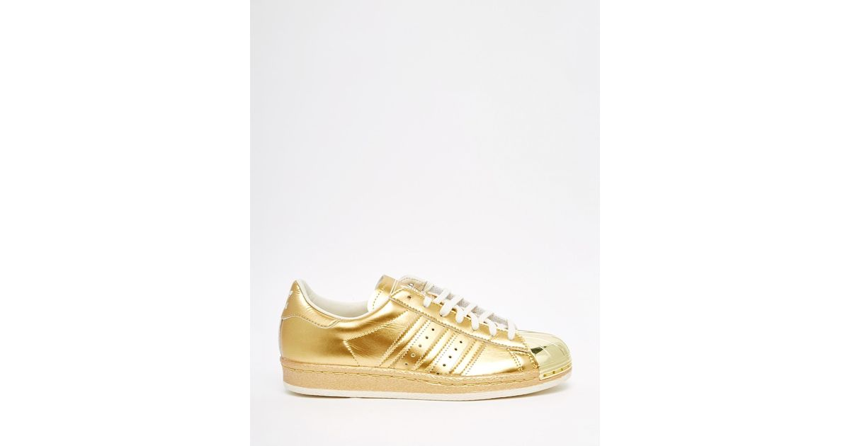 Adidas Originals Originals Superstar 80 capacitadores en oro metalico