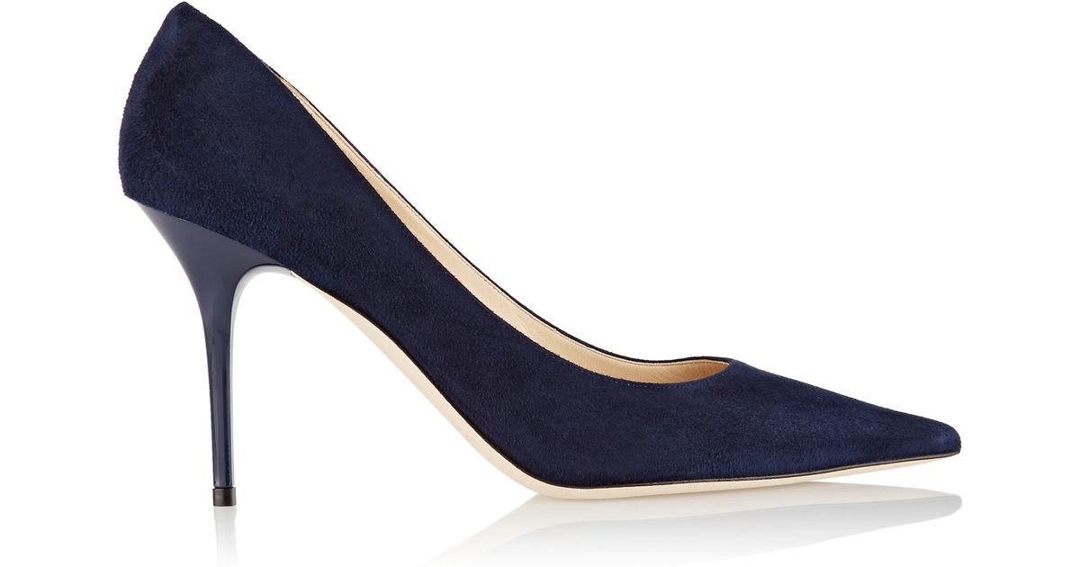 005372145 Jimmy Choo Agnes Suede Pumps in Blue - Lyst