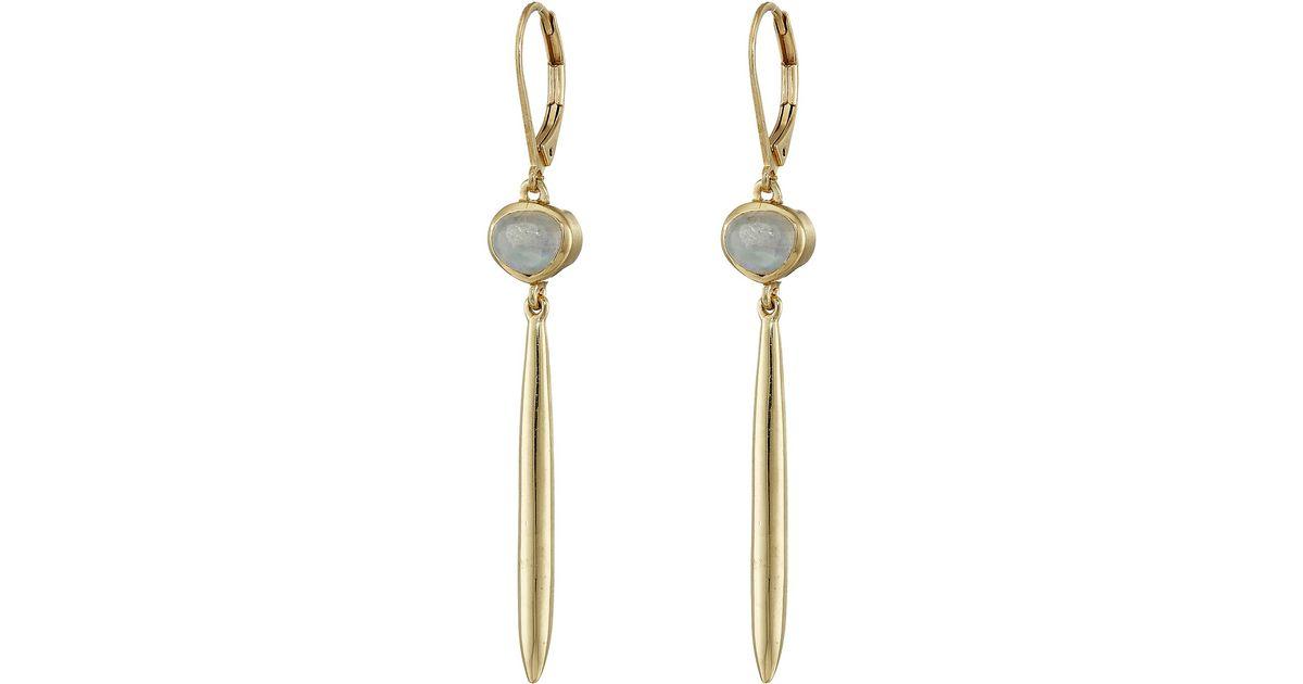 c9b026c6cbac Lyst - Cole Haan Linear Stone Drop Earrings in Metallic