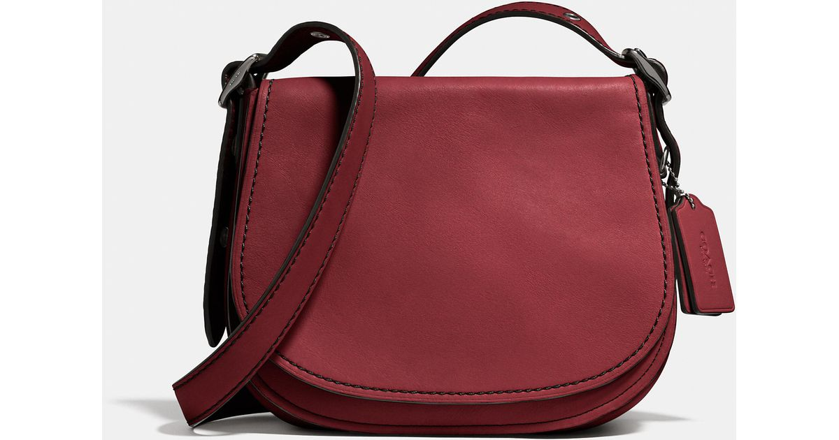 410619fb0b7 ... sale lyst coach saddle bag 23 in glovetanned leather in natural 5d6fe  d5cf6 ...